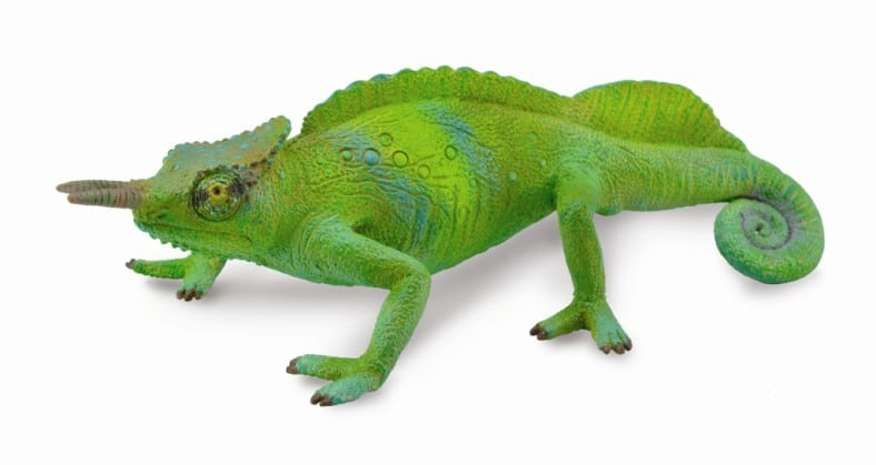 cameroon sailfin chameleon toy model by collecta 88805 red world toys